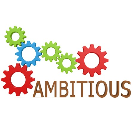 ambitious: Ambitious gear Stock Photo