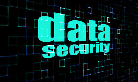 lockout: Data security on digital screen image with hi-res rendered artwork that could be used for any graphic design.