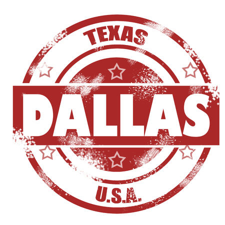 Dallas stamp image with hi-res rendered artwork that could be used for any graphic design Stock Photo