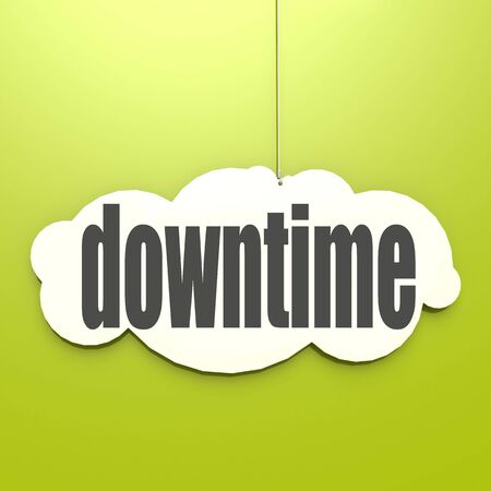 downtime: White cloud with downtime image with hi-res rendered artwork that could be used for any graphic design.