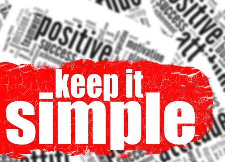 straightforward: Word cloud keep it simple image with hi-res rendered artwork that could be used for any graphic design. Stock Photo