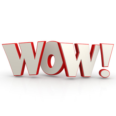wow: WOW word with white background image with hi-res rendered artwork that could be used for any graphic design.