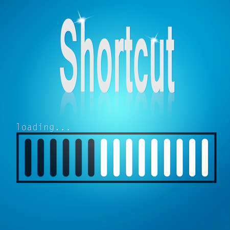 selling service: Shortcut blue loading bar image with hi-res rendered artwork