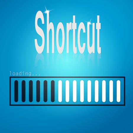 shortcut: Shortcut blue loading bar image with hi-res rendered artwork