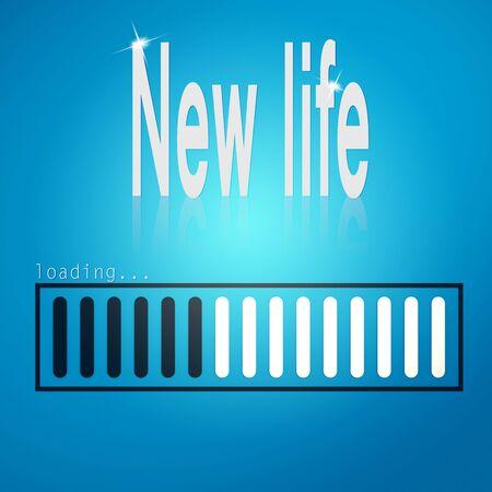 hires: New life blue loading bar image with hi-res rendered artwork