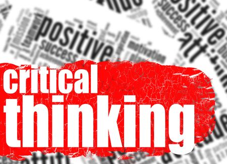 Word cloud critical thinking image with hi-res rendered artwork