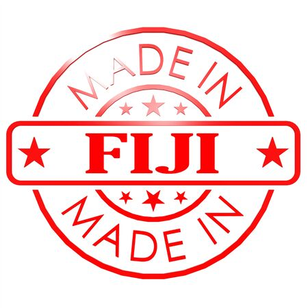 red seal: Made in Fiji red seal image with hi-res rendered artwork