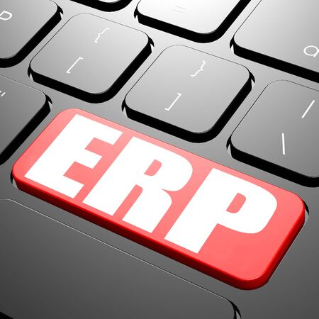 erp: Keyboard with ERP text image Stock Photo