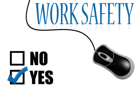 safety check: Work safety check mark image with hi-res rendered artwork