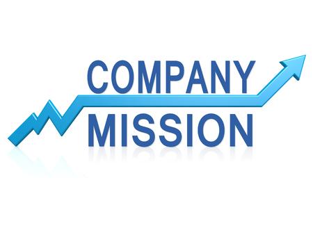 mision: La misión de la empresa imagen Flecha azul con con hi-res prestados obra que podría ser utilizado para cualquier diseño gráfico. Foto de archivo