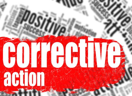 corrective: Word cloud corrective action image with hi-res rendered artwork that could be used for any graphic design.