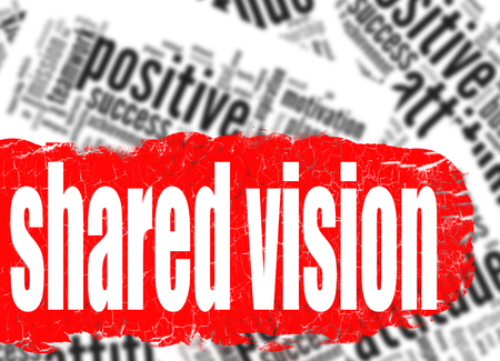 common vision: Word cloud shared vision image