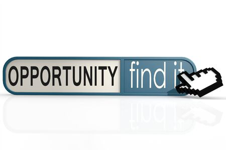 exploration: Opportunity word on the blue find it banner image