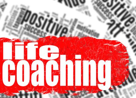 life coaching: Word cloud life coaching image