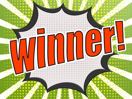 zonk: Comic speech bubble red winner image