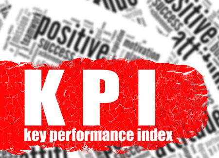 assessment system: Word cloud key performance index image with hi-res rendered artwork that could be used for any graphic design. Stock Photo