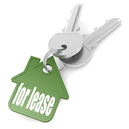 home owner: Keychain with for lease word image with hi-res rendered artwork that could be used for any graphic design.