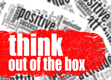 think out of the box: Word cloud think out of the box image with hi-res rendered artwork that could be used for any graphic design.