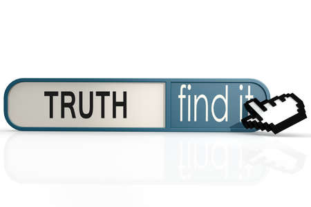 validated: Truth word on the blue find it banner image with hi-res rendered artwork that could be used for any graphic design.
