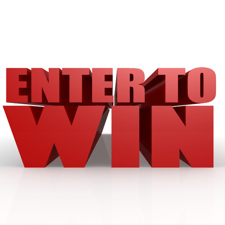 win: Enter to win image with hi-res rendered artwork that could be used for any graphic design. Stock Photo