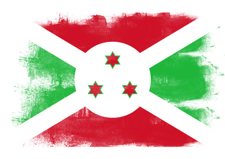 solid background: Flag of Burundi painted with brush on solid background,