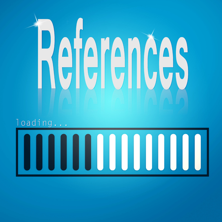 references: References blue loading bar image with hi-res rendered artwork that could be used for any graphic design.