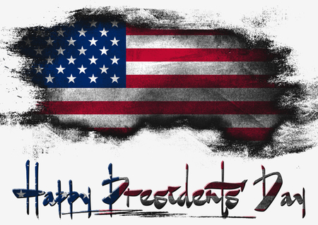 presidents: Flag of United States, USA Presidents Day Stock Photo