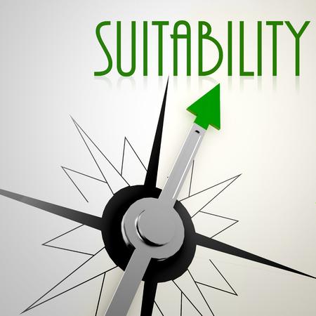 Alkalmasságát a zöld iránytű. Fogalma az egészséges életmód Stock fotó
