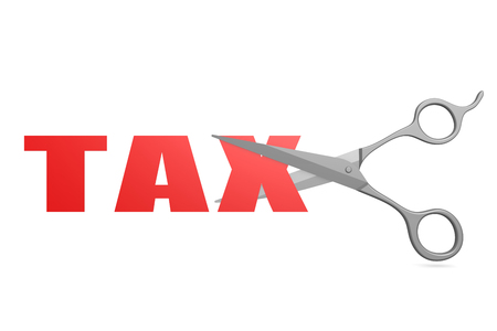 libertarian: Cut tax image with hi-res rendered artwork that could be used for any graphic design. Stock Photo