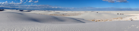 vastness: White Sand Dunes on Sunny Day In New Mexico