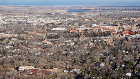 Aerial View of Boulder, Colorado, USA