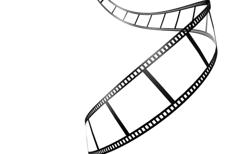 roll film: Black film strip isolated image with hi-res rendered artwork that could be used for any graphic design.