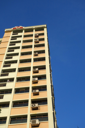 hdb: Housing flat in Singapore with blue sky