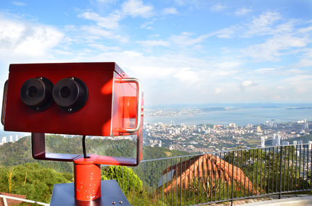 viewer: Colorful telescope viewer at Penang Hills, Malaysia