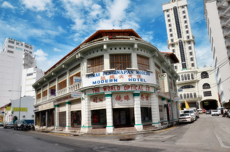 unesco world cultural heritage: PENANG, MALAYSIA- 26 NOV,2015: Buildings in George Town UNESCO World Heritage Site, officially recognised as having a unique architectural and cultural townscape without parallel anywhere in Southeast Asia. Editorial