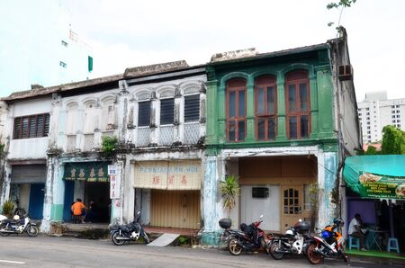 parallel world: PENANG, MALAYSIA- 26 NOV,2015: Buildings in George Town UNESCO World Heritage Site, officially recognised as having a unique architectural and cultural townscape without parallel anywhere in Southeast Asia. Editorial