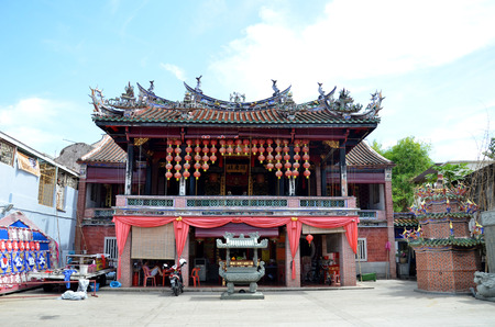 resulted: PENANG, MALAYSIA - 26 NOV, 2015: Front view of Poh Hock Seah Temple in Penang, Malaysia. The temple is a community temple devoted to serve as a site of worship for Twa Peh Kong resulted Poh Hock Seah