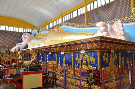 godliness: Reclining Thai Buddhist Temple in Penang, Malaysia