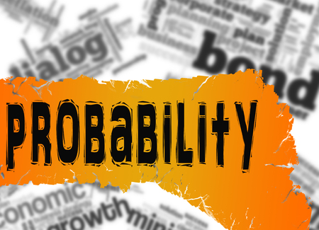 probability: Word cloud with probability word image with hi-res rendered artwork that could be used for any graphic design.