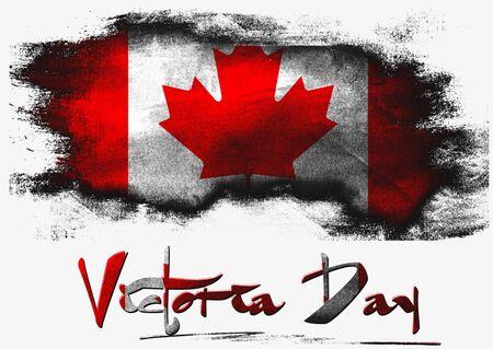 Kanada Victoria Day mit Pinsel auf soliden Hintergrund,