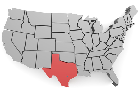 hires: Texas map image with hi-res rendered artwork that could be used for any graphic design.