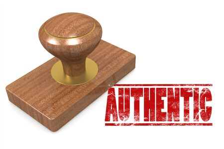 authentic: Authentic quallity wooded seal stamp image with hi-res rendered artwork that could be used for any graphic design.