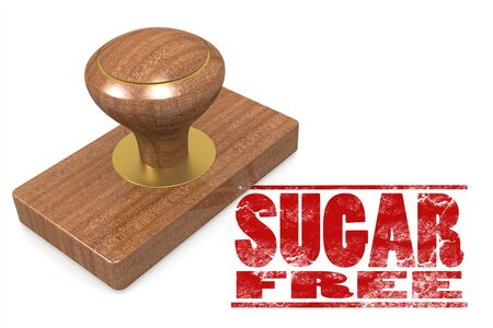guaranty: Sugar free wooded seal stamp image with hi-res rendered artwork that could be used for any graphic design.