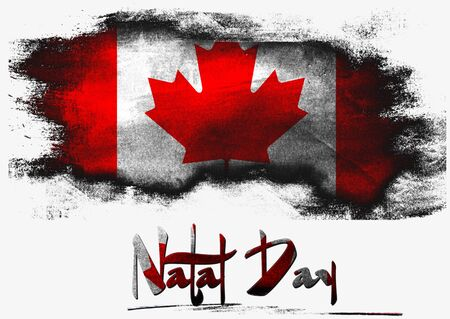natal: Flag of Canada for Natal Day with white background