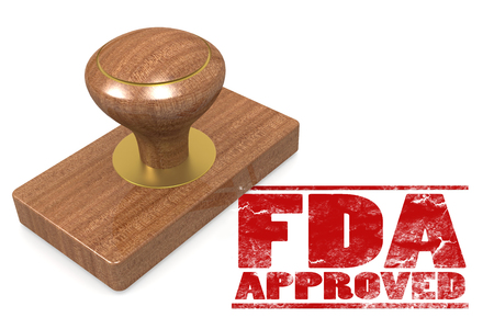 FDA approved red rubber stamp image with hi-res rendered artwork that could be used for any graphic design. Stock fotó