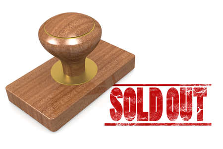 finished good: Sold out wooded seal stamp image with hi-res rendered artwork that could be used for any graphic design.