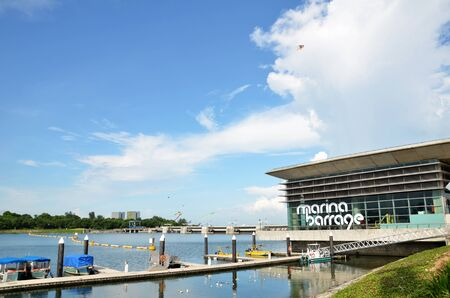 SINGAPORE- 12 JUNE, 2016: Marina Barrage is a retreat and leave the body in the bundle is a popular holiday in Singapore.