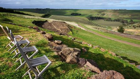 scenary: Australia vineyard with chairs, beautiful scenary