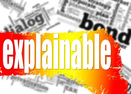 accountable: Word cloud with explainable word image with hi-res rendered artwork that could be used for any graphic design.