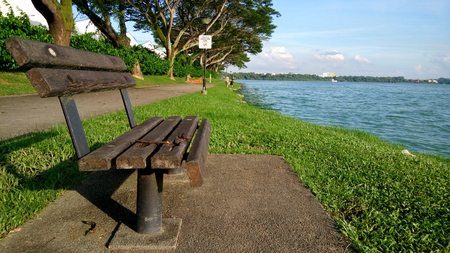 ambiance: Kranji reservoir in Singapore during hot afternoon